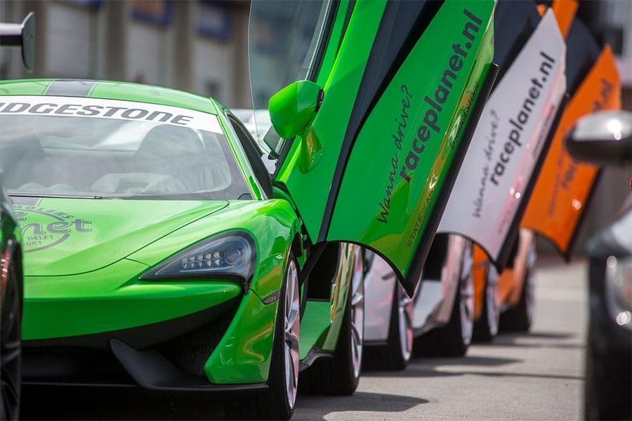 Bleekemolens Race Planet McLaren 540C van de Race Experiences op Circuit Zandvoort waar je zelf in kunt rijden